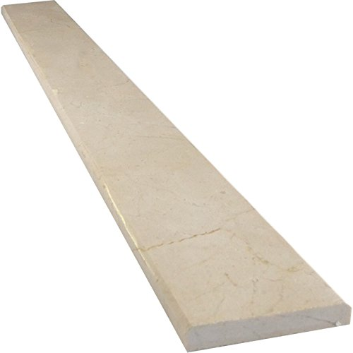 Vogue Tile Crema Marfil Beige Marble Threshold (Marble Saddle) - Polished - (6'' x 36'') by Vogue Tile (Image #1)