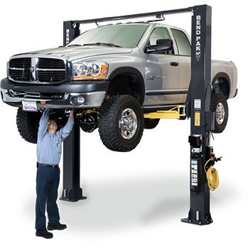 Low Post Ceiling 2 Lift (Bendpak XPR-10S-168 Extra Tall, Dual Width, 10,000 2 Post Car Lift)