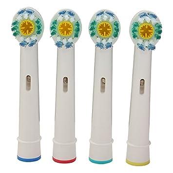 Bluelover 4Pcs Recambio Universal Cabeza De Cepillo De Dientes Electrico Braun Oral-B D Serie: Amazon.es: Hogar