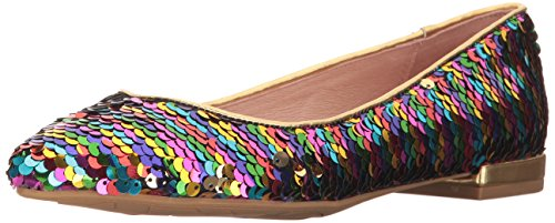 Chinese Laundry Women's Gavin Pointed Toe Flat, Rainbow Sequins, 6.5 M US
