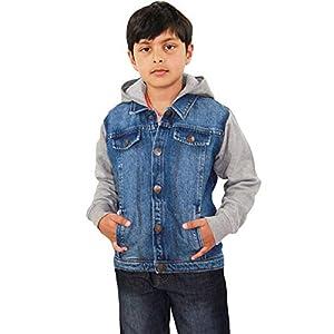A2Z 4 Kids Kids Boys Denim Jacket Designer's Fleece Sleeves & Hood Stylish Jeans Jackets Trendy Fashion Coats New Age 2…