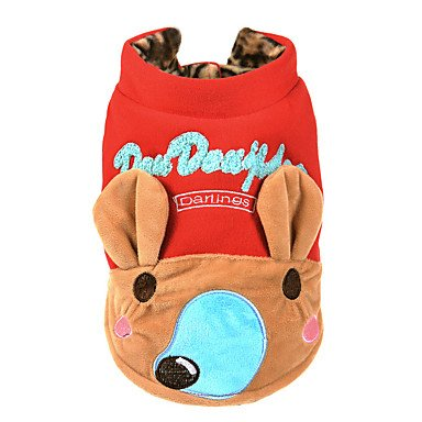 Red S Red S Y-Hui Dog Sweatshirt Dog Clothes Casual Daily Cartoon Ruby Yellow,S,Red