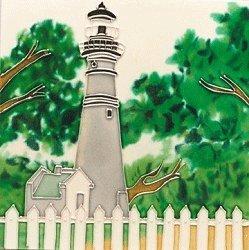 Key West Lighthouse Decorative Ceramic Wall Art Tile 4x4