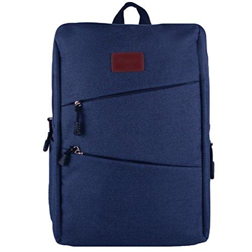 ZKOO Lona Mochila Escolar Backpack Mochilas Mujeres Hombres Daypacks Mochila de Viaje Laptop Bolsa Mochilas Zafiro