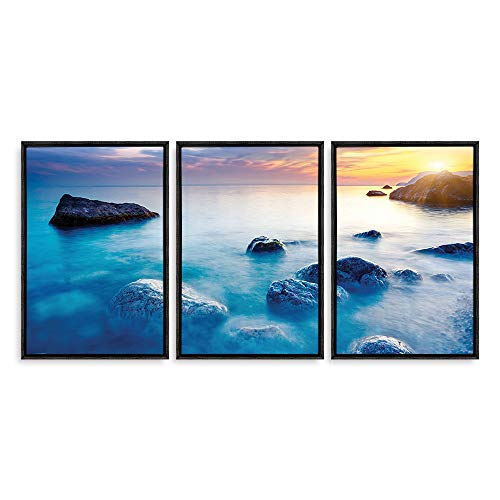 Framed for Living Room Bedroom Scenery Theme for x3 Panels
