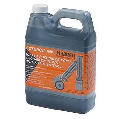 Marsh Black Stencil Ink - 946Ml - Permanent, Waterproof & Fast Drying Ink by Marsh