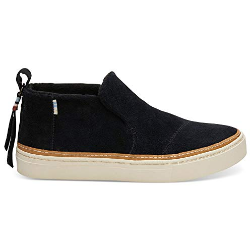 TOMS Black Suede Water-Resistant Women Paxton Slipon 10012401 (Size: 6.5)