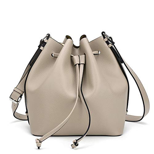 Drawstring Bucket Bag for Women Large Crossbody Purse and Shoulder Bag Suede Tote Handbags