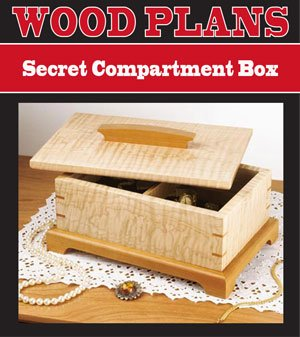 Secret Compartment Jewelry Box Woodworking Paper Plan Pw10017 Jig