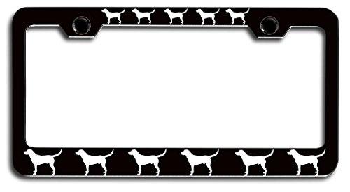 (Makoroni - LABRADOR RETRIEVER Dogs Pets Bl Steel License Plate Frame, License Tag Holder )