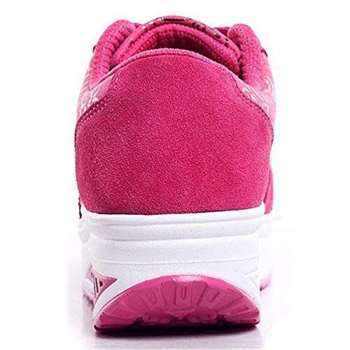 Qianliuk Rosa Donna Primavera Casual Piattaforma Sneakers Piedi Caldo Autunno Donne Calzature Cunei Floreale Scarpa RrRCw4q