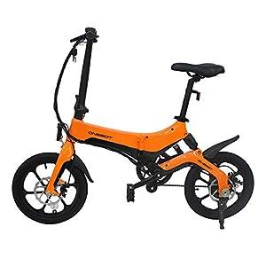 41gu1cTA1JL. SS300 Biciclette Elettriche PIEGHEVOLE 16 Pollici da 250W 25km/h per Donna Uomo Mountain bike/Bici da Montagna Città, Batteria…