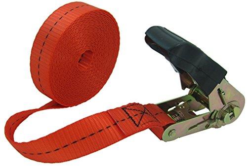 WINGONEER Endless Loop Ratchet Tie-Down Standard Duty Ratchet Endless No Hooks/Lashing, 1,700 lbs.196inch - Red by WINGONEER®