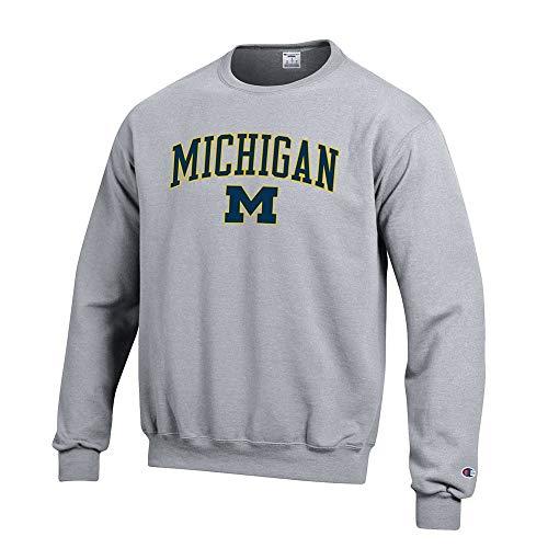 Elite Fan Shop Michigan Wolverines Crewneck Sweatshirt Varsity Gray - M