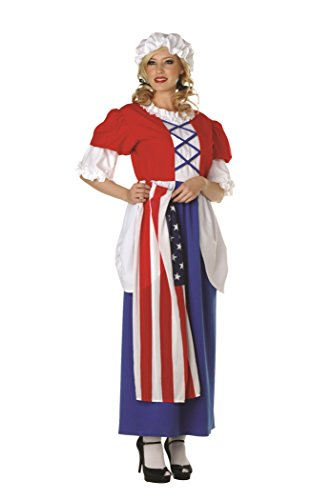 RG Costumes Women's Betsy Ross, Red/White/Blue One Size