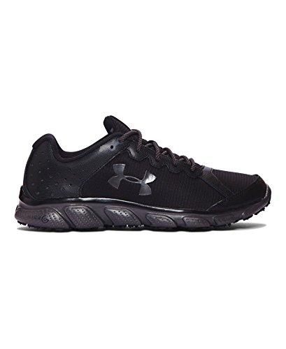 Under Armour Men's UA Micro G? Assert 6 Grit Black/Charcoal/Charcoal Sneaker 7.5 D (M) - Black Under Armour Shoes