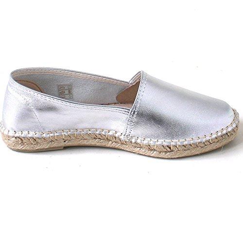 Espadrij 530 classic metallique silver Silver j2vs3