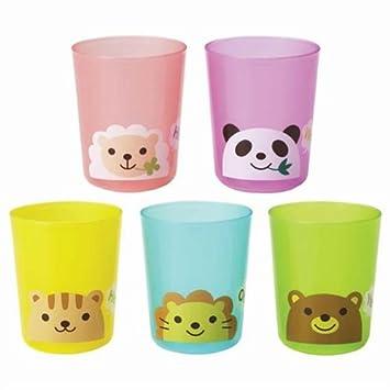 Set de vasos de plástico de colores para fiestas con animales: Amazon.es: Juguetes y juegos