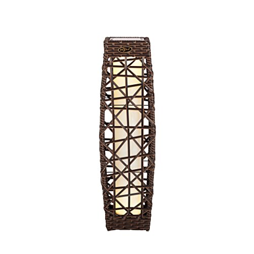 Open Weave Rattan LED Solar Garden Lantern (Lanterns Floor Outdoor)