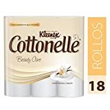 Kleenex Cottonelle Beauty Care Papel Higiénico, color Blanco, 18 Rollos de 192 Hojas Triples
