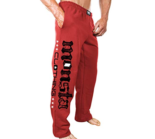 Monsta Clothing Co. Men's MC-MonstaFlag_(M-SWPNT-235) Sweatpants Small Red