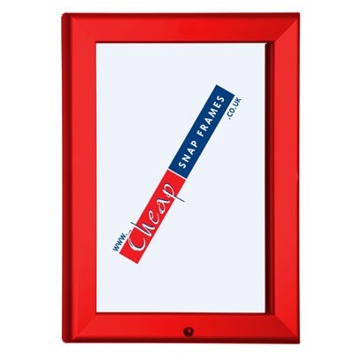 A3 Red Lockable Red Frame 32mm: Amazon.co.uk: Kitchen & Home