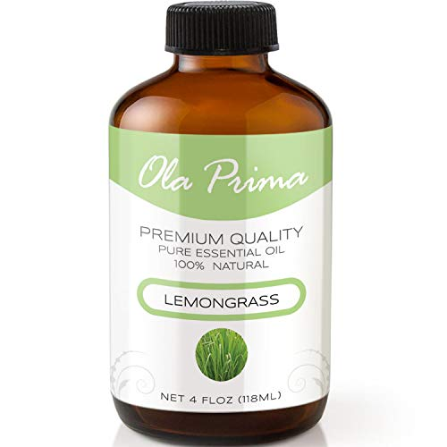 4oz - Premium Quality Lemongrass Essential Oil (4 Ounce Bottle with Dropper) Therapeutic Grade Lemongrass Oil