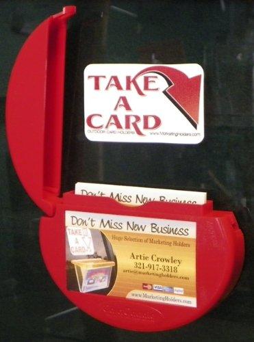 Outdoor Business Card Holder (Marketing Holders RED CARD CADDIE OUTDOOR VEHICLE BUSINESS CARD)