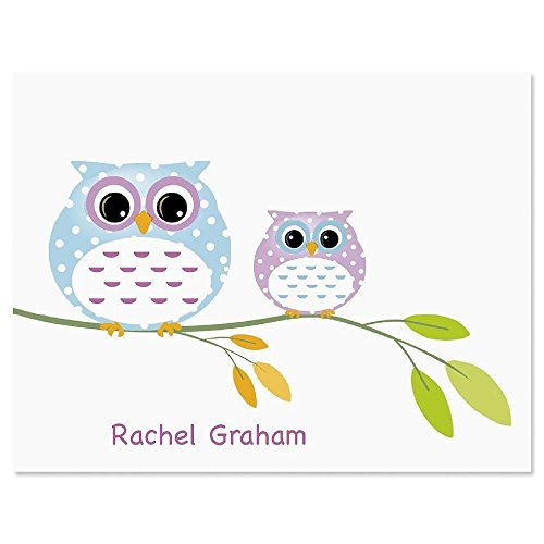 Owl Always Love You Personalized Note Card Set - 24 cards & envelopes