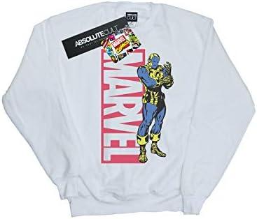 Marvel Herren Iron Man Pop Profile Sweatshirt Weiß X-Large
