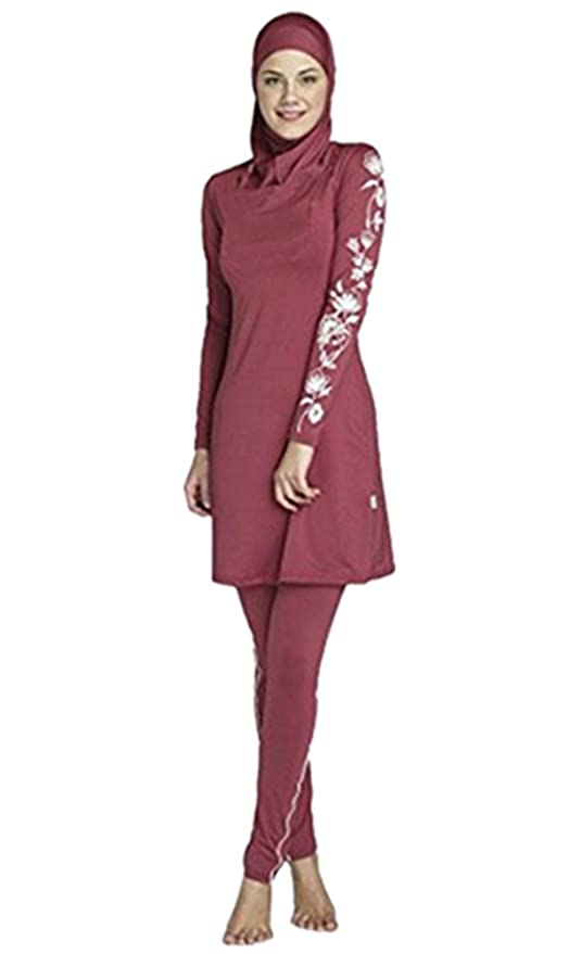Costume da bagno musulmano donne ragazze costume da bagno Muslim Swimwear ragazze signore Modesto copertura completa Beachwear burqini burkini