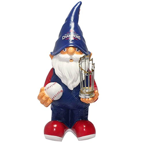 Chicago Cubs 2016 World Series Champions Gnome Holding World Series Trophy