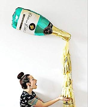 Balloons 5 set Grande Champagne Botella de Vino Copa Foil Globo de Oro de la borla de la boda de la fiesta de cumpleaños Decoración Suministros Regalos: ...