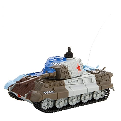 GreatWall 2117B 15 Channel 1:72 German Tiger Style RC Simulation Tank Gray by Preciastore
