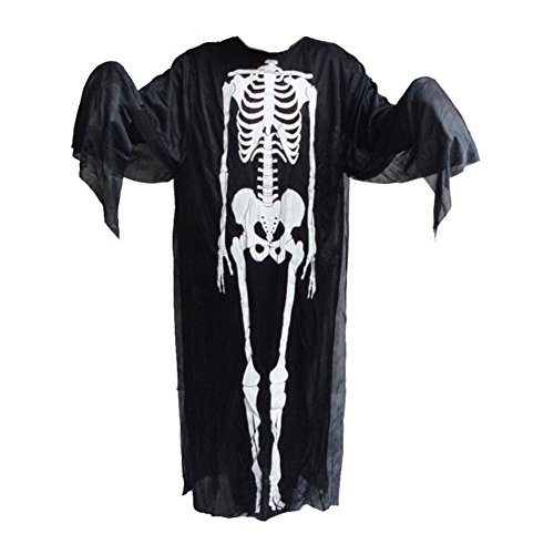 Yatim Scary Costume Halloween Cosplay Party Masquerade Party-Unisex Bone (Scary Skeleton Costumes)