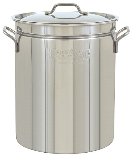 (Bayou Classic 1044 44-Quart Stainless-Steel Stockpot)