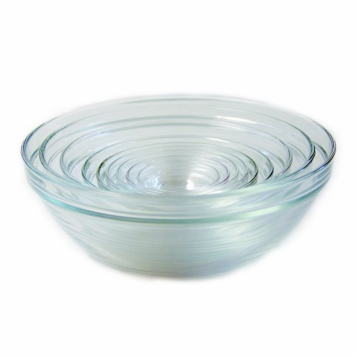 Duralex 100010  Made In France Lys Stackable 10-Piece Bowl (Kitchen Glass Mixing Bowl)