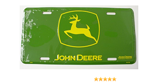 Chroma Graphics 1849 John Deere Stamped License Plate