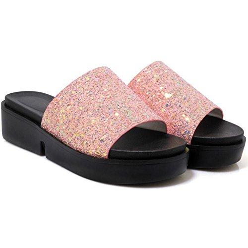 Confort Mules JOJONUNU Bout Femmes Ouvert pink F88Iq5w