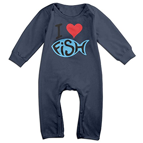 Brad Paisley Costume - HOHOE Babys I Love Fish Long Sleeve Outfits 6 M