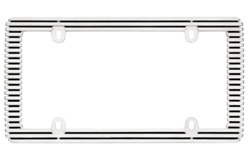 Cruiser Accessories 58350 Billet License Plate Frame, Chrome/Black ()