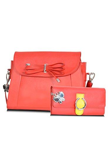 Butterflies Women's Handbag 14x10x4 Red by Butterflies