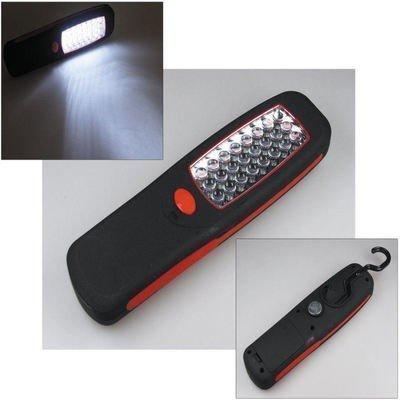 LED Arbeitsleuchte mit 24 LEDs, Haken & Magnethalter