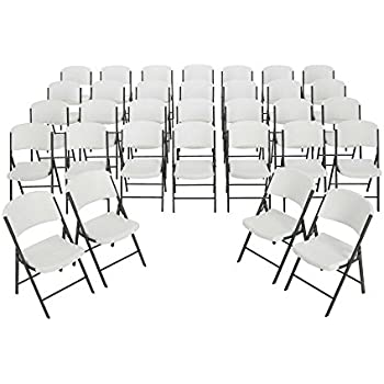 Amazon Com Lifetime Folding Chairs 2802 White Granite