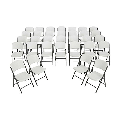 Lifetime Folding Chairs 2802 White Granite Color Plastic 32 Pack by Lifetime