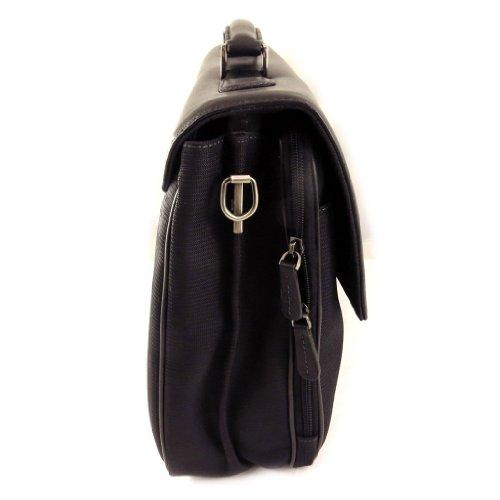 Francinel [L0984] - Serviette 'Lafayette' noir (2 soufflets)