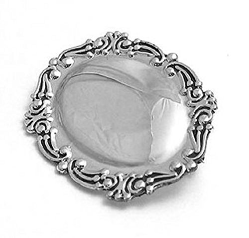 Sandra Creative Design Silver-tone Fancy Engravable Pendant/Pin