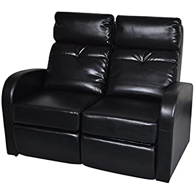 Amazon Com Bonded Leather Double Recliner Sofa Living