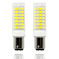 Ba15d led Light Bulb Dimmable 8W, 75W 80W 100W Halogen Bulbs Replacement, Double Contact Bayonet Base 110V 120V 130V Input, Daylight White 6000K (Pack of 2) (Daylight White)