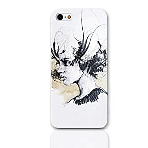Sketch Design Hard Case with 3-Pack Screen Protectors for iPhone 5/5S